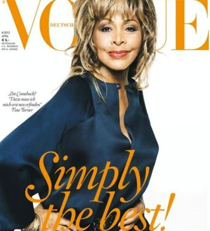 Tina Turner é capa da Vogue